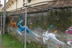 12. I graffiti in cortile