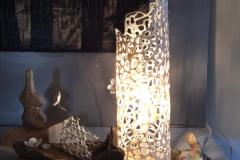 Lampada merletto in ceramica. Marta Galla