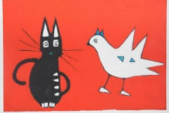 Cat and birds - Dimensione cm. 50x70