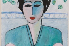 Woman with cat  - Dimensione cm. 50 x 70